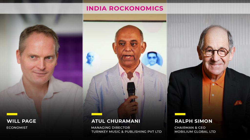 India rockonomics, 2nd AAM Session, Will Page, Atul Churamani, Ralph Simon, Evolution and future of music streaming