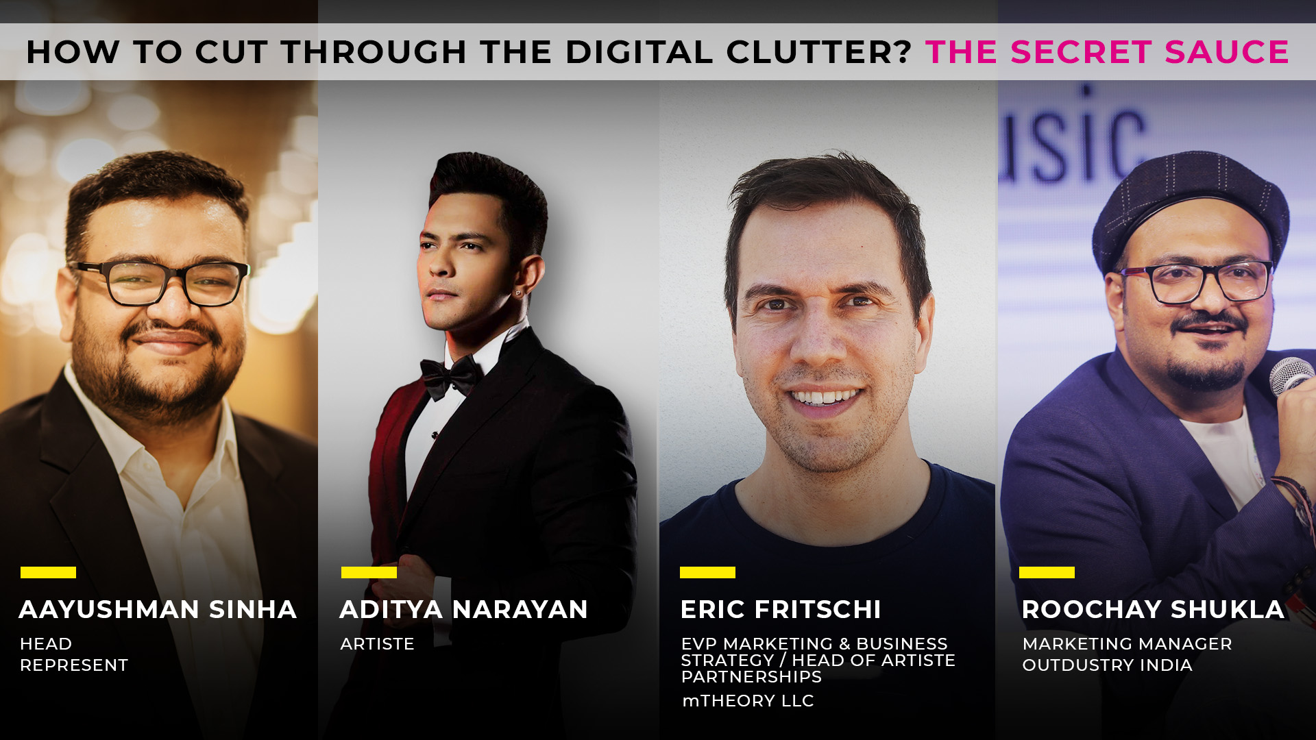 4th AAM Digital Session supported by Music Plus - Discussion with Ayushman Sinha,artist Aditya Narayan, Eric Fritschi, Roochay Shukla